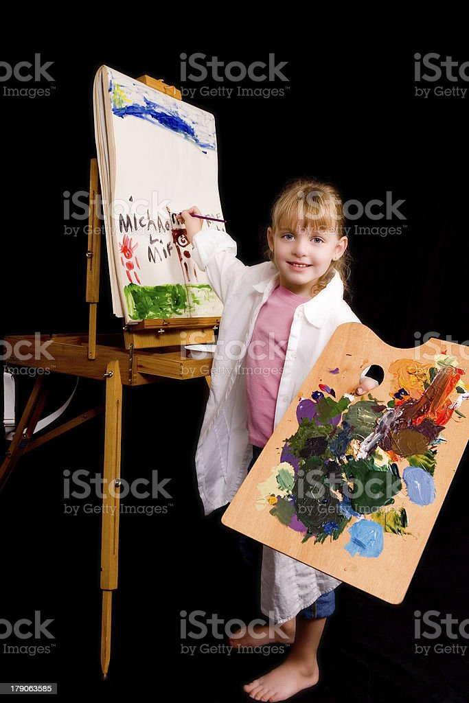 Happy Artist royalty-free stock photo