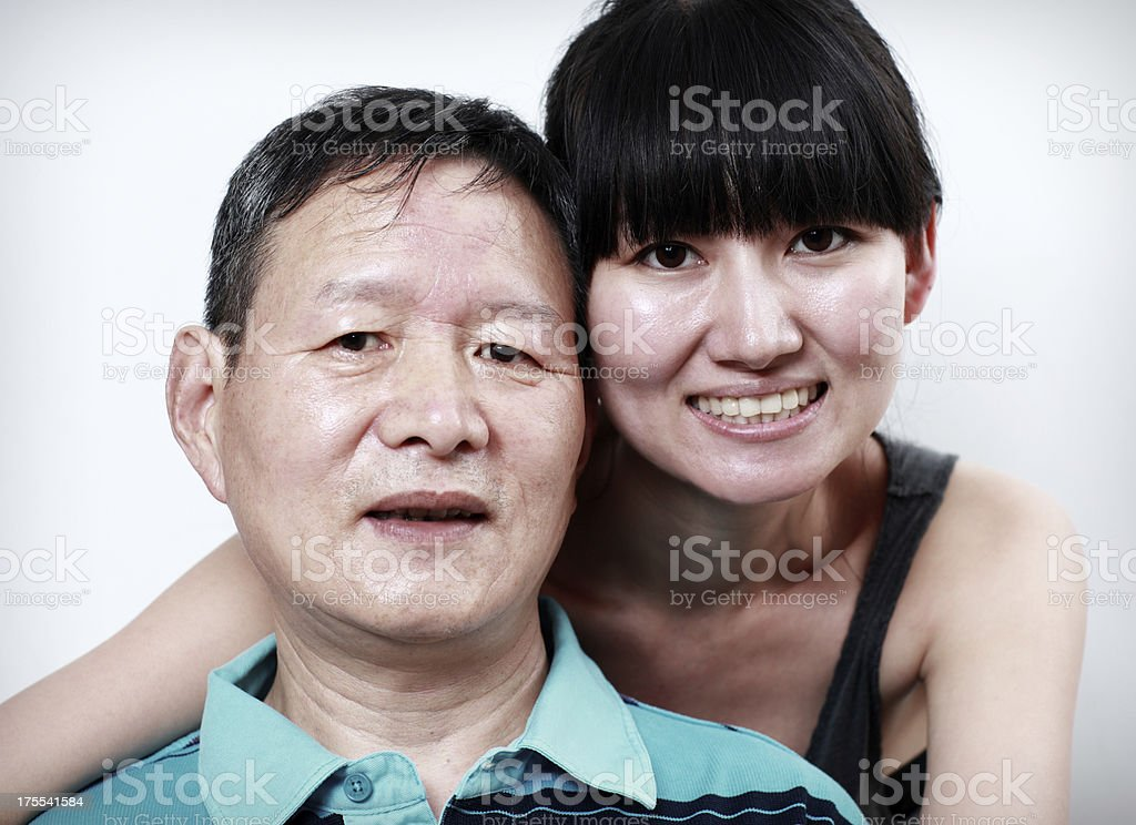Happy asia Father and daughter royalty-free stock photo
