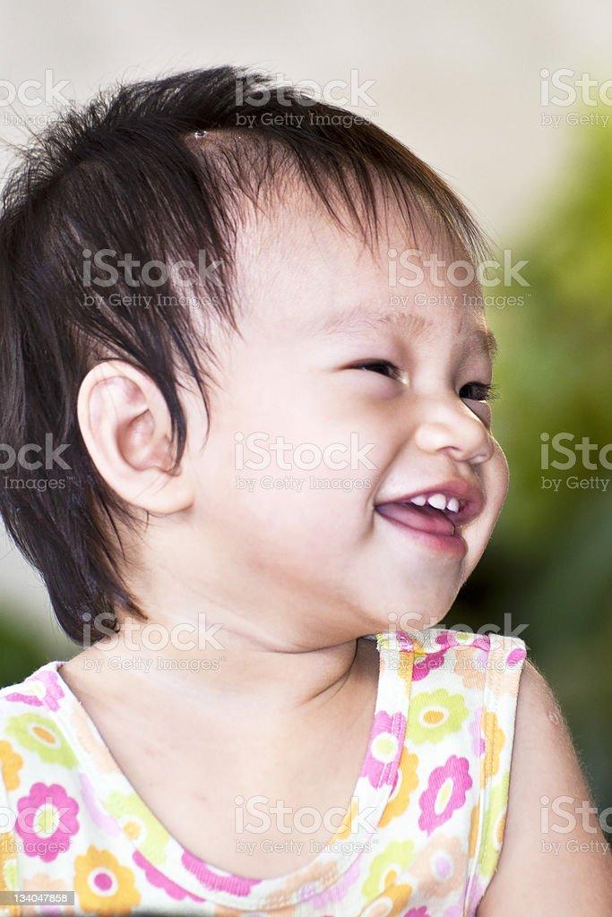 Szczęśliwy Asian dziewczynka zbiór zdjęć royalty-free