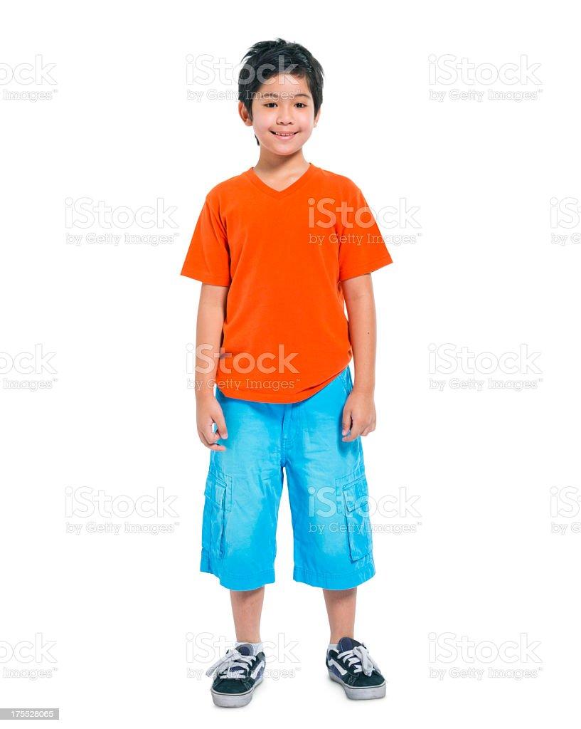Happy Asian boy stock photo