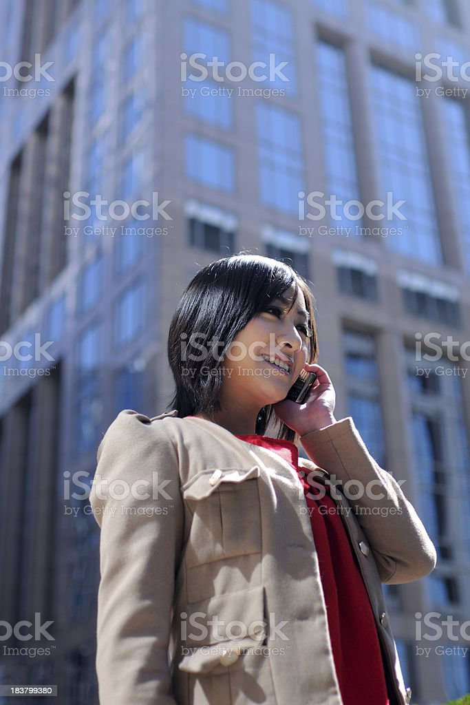 Happy Asian Business Woman - XLarge royalty-free stock photo