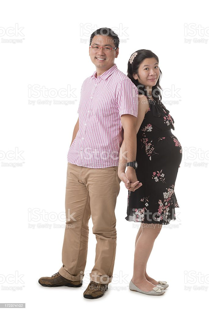 Happy Asian Chinese Couple royalty-free stock photo