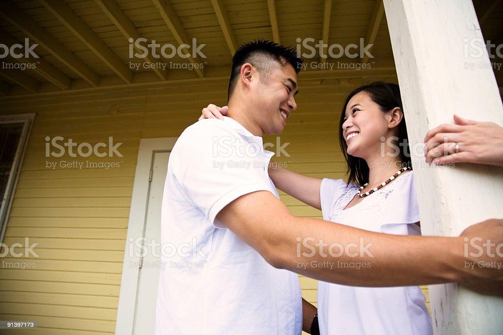 Happy asian couple royalty-free stock photo