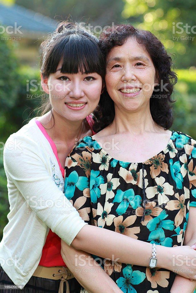 Happy Asian family royalty-free stock photo