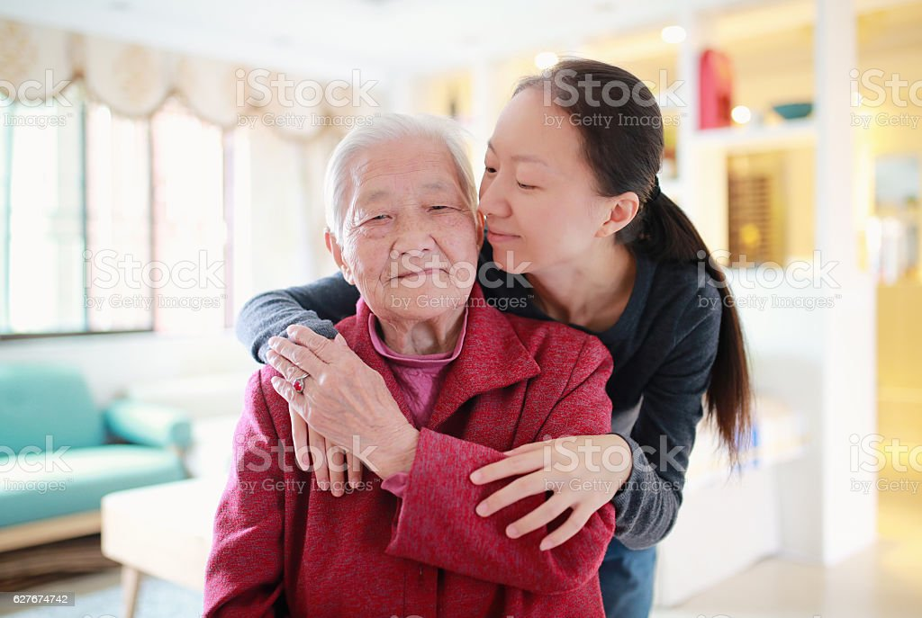 Happy Asian family stock photo