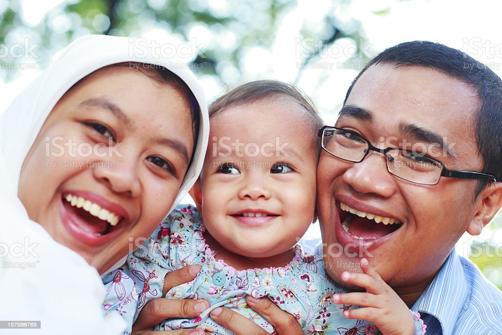 happy asian family together royalty-free stock photo