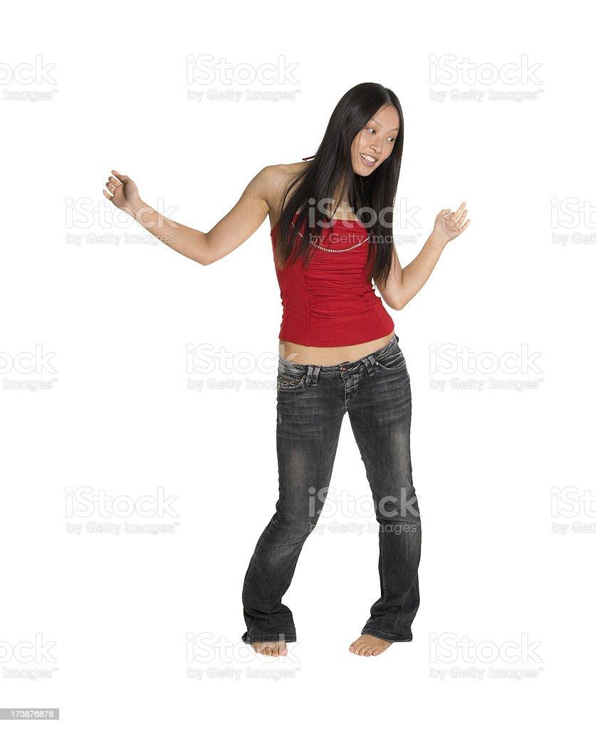happy asian fashion woman royalty-free stock photo