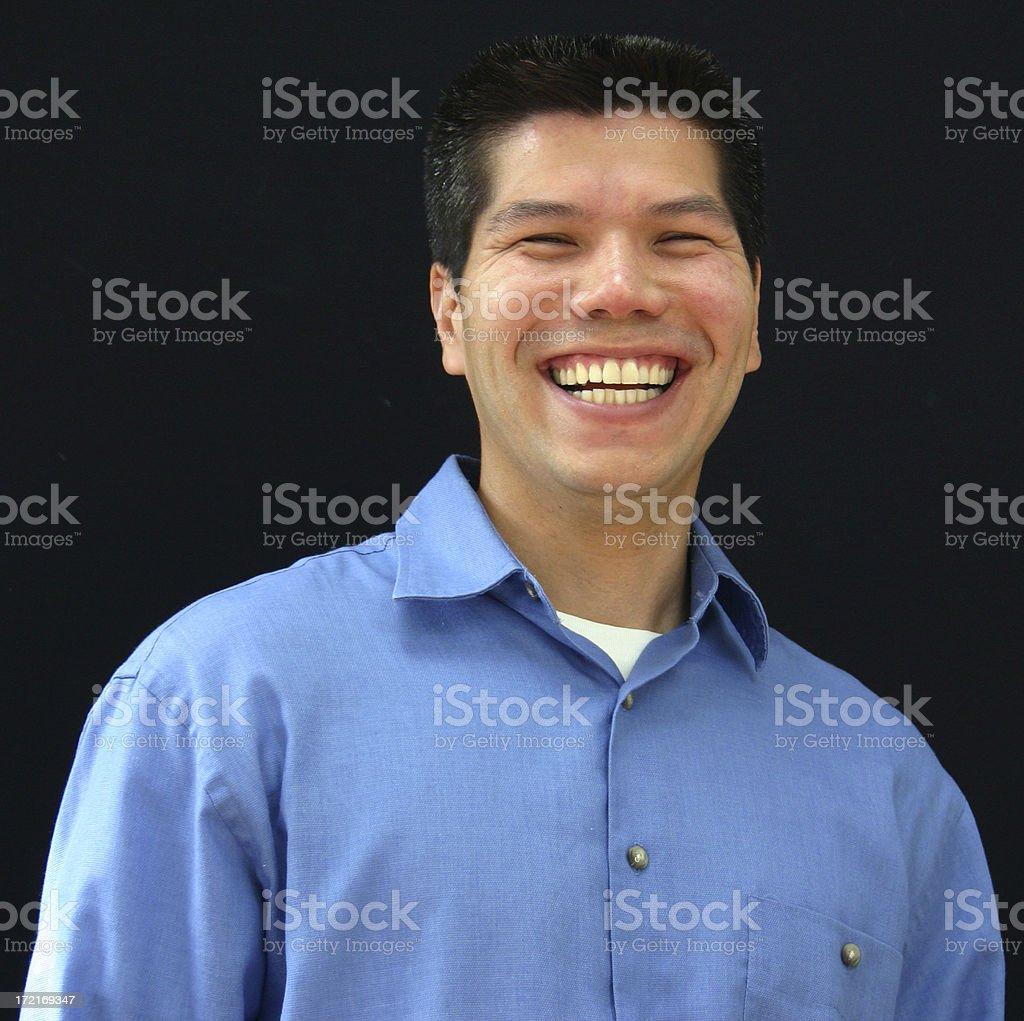 Happy Asian royalty-free stock photo