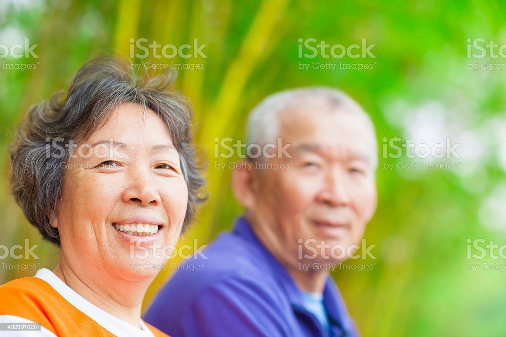 happy asian Senior couple stock photo