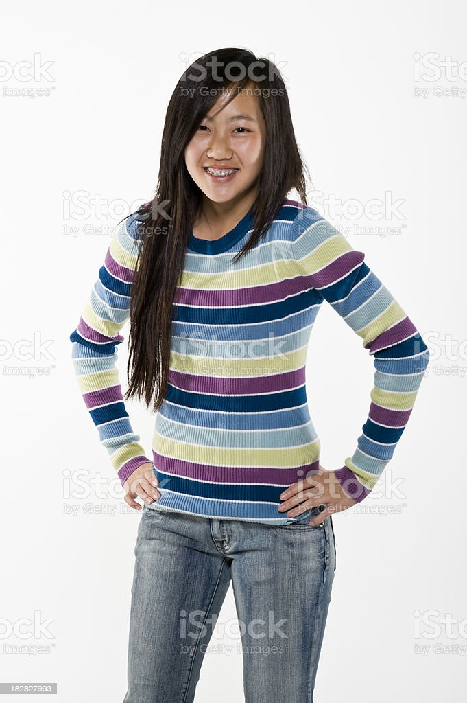 Happy Asian Teenage Girl royalty-free stock photo