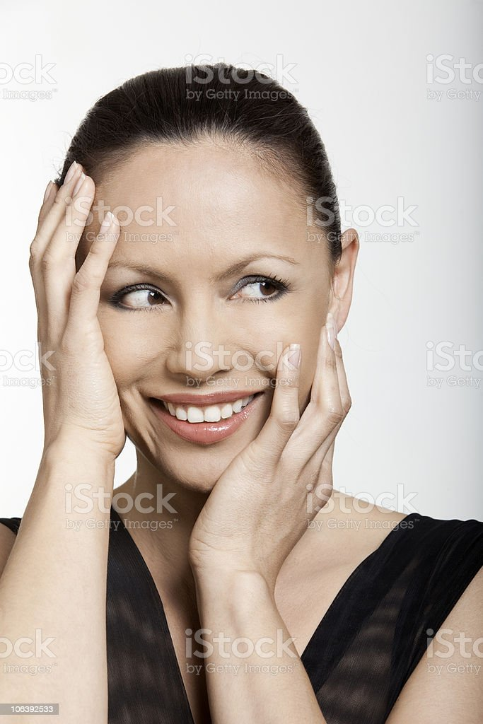 happy asian woman royalty-free stock photo