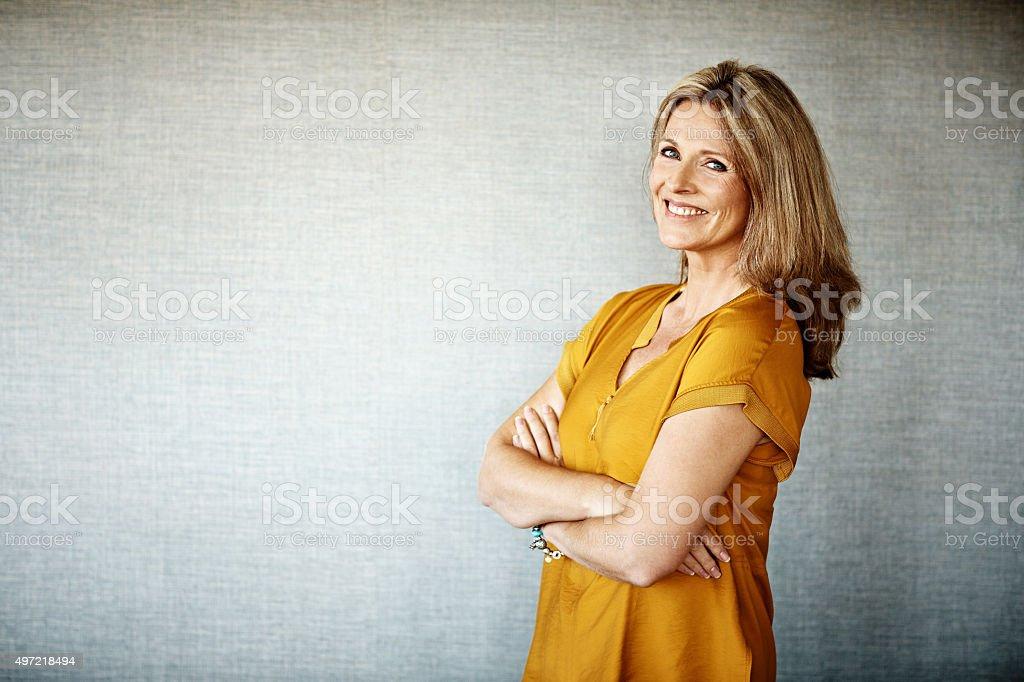 Happy at home stock photo
