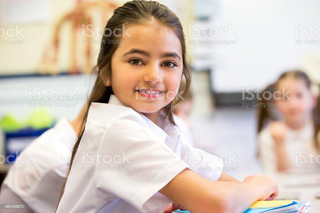 Happy at School stock photo