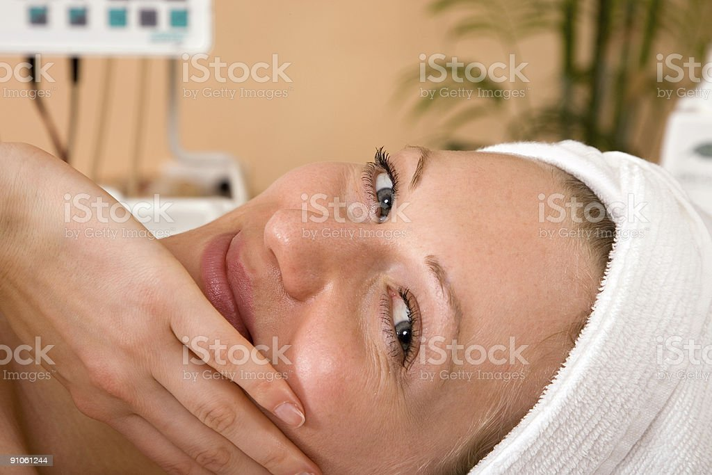 happy at spa royalty-free stock photo