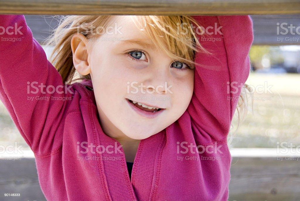 Happy at the park royalty-free stock photo