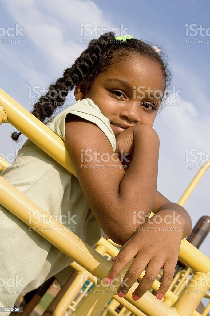 happy at the playground royalty-free stock photo