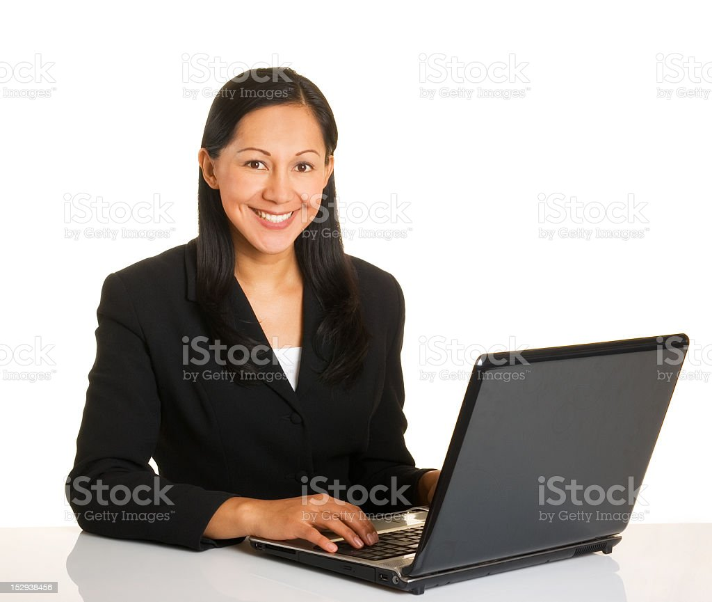 Happy at work royalty-free stock photo