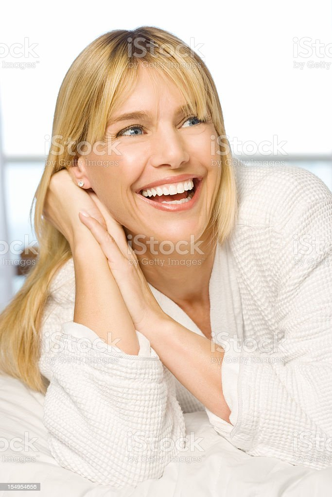 happy attactive woman royalty-free stock photo