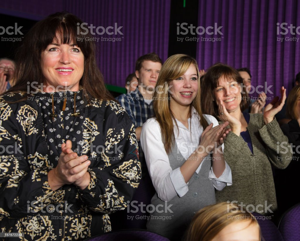 Happy Audience Members royalty-free stock photo