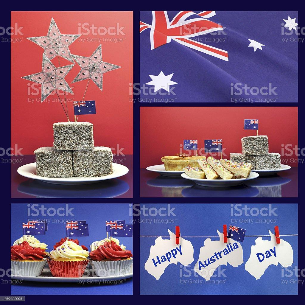 Happy Australia Day, January 26, collage stock photo