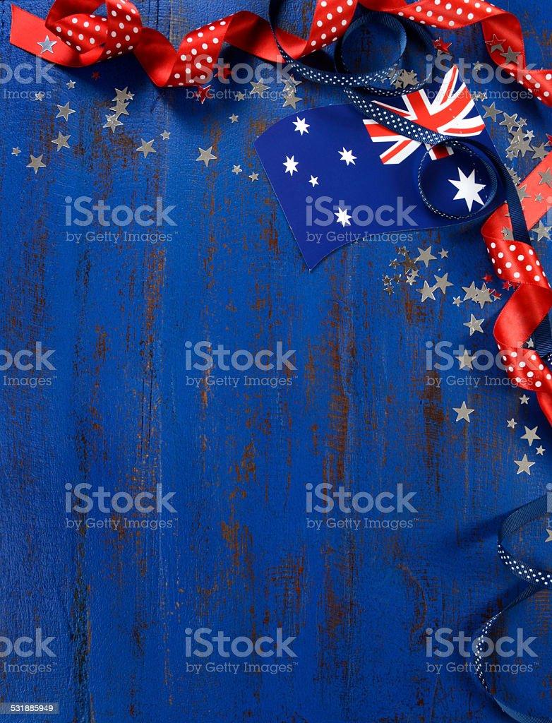 Happy Australia Day, January 26, theme background stock photo