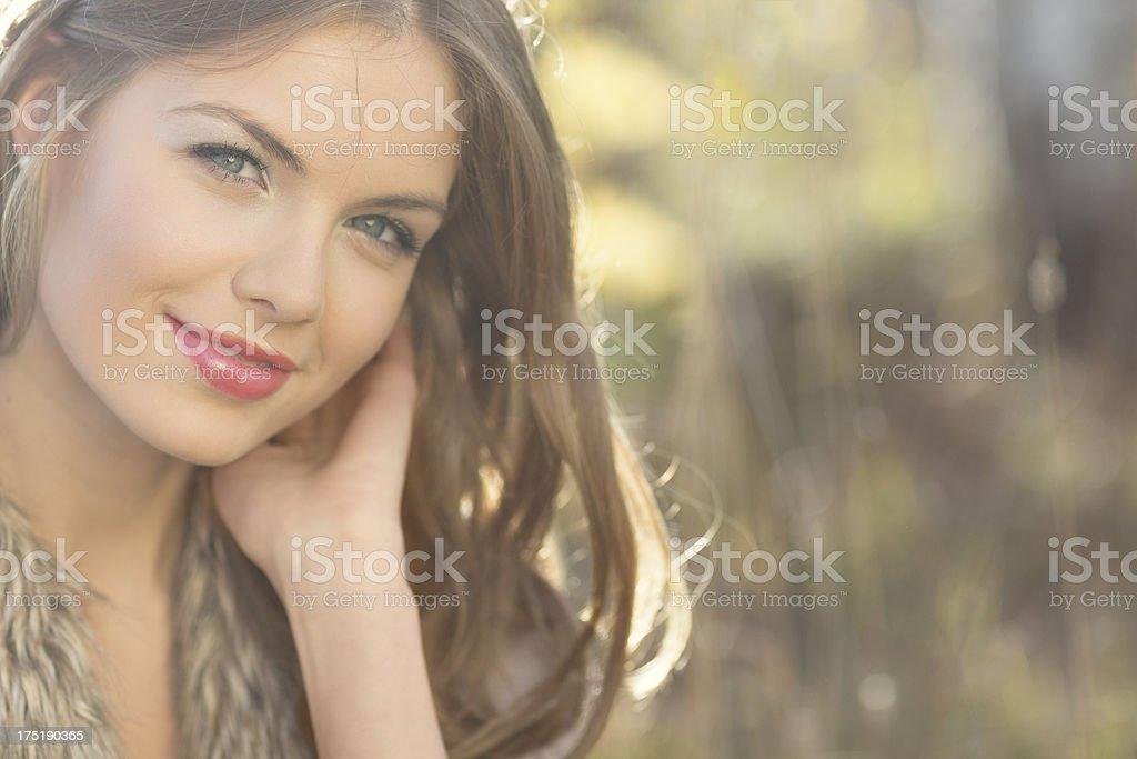 Happy Autumn Beauty stock photo
