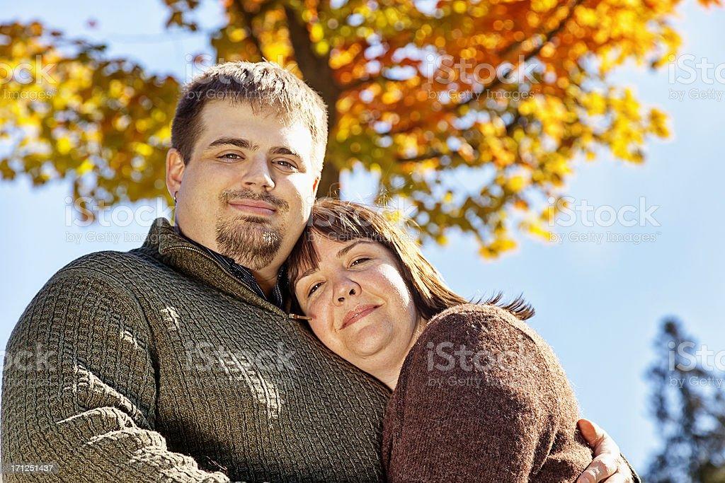 Happy Autumn Couple royalty-free stock photo