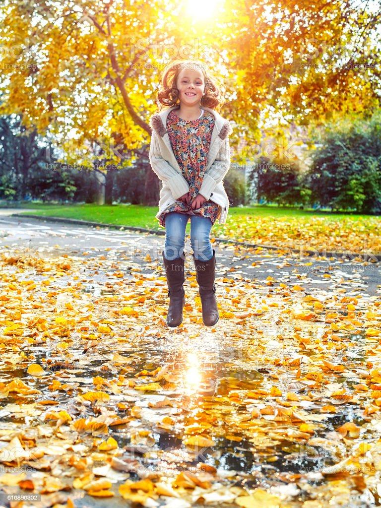 Happy autumn stock photo