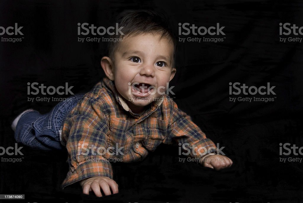 Happy Baby Boy stock photo