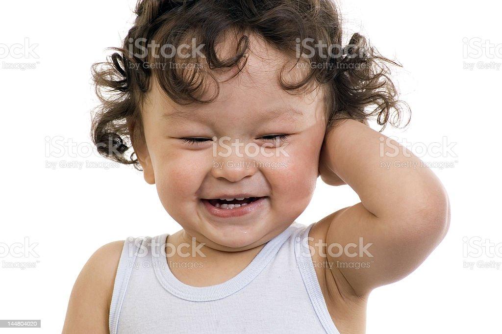 Happy baby. royalty-free stock photo
