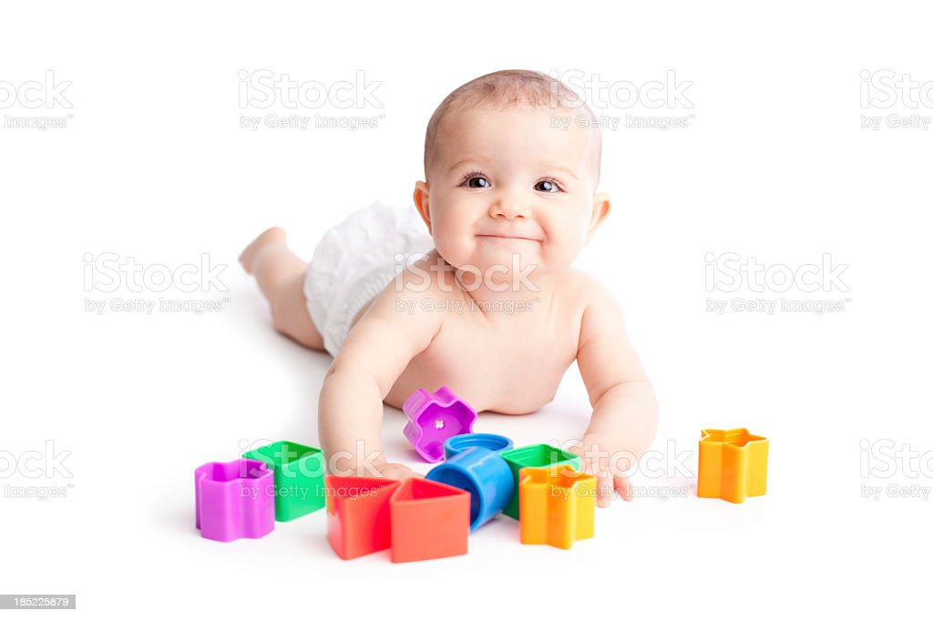 Happy baby playing royalty-free stock photo