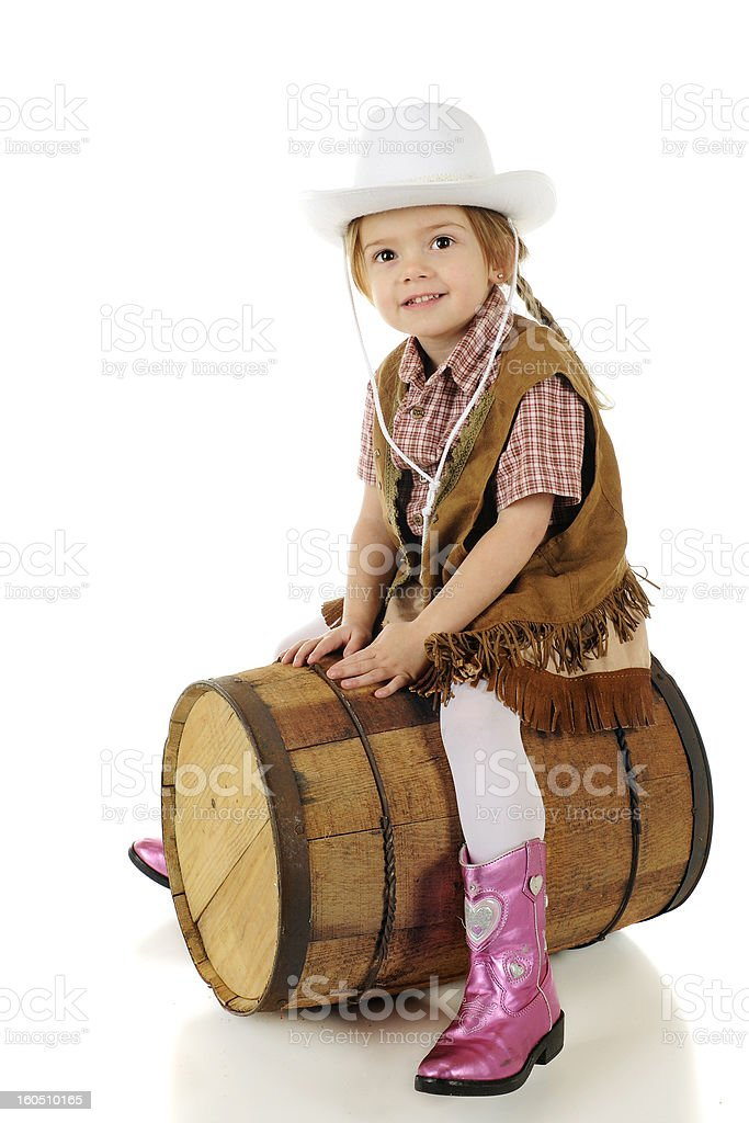 Happy Barrel Rider royalty-free stock photo