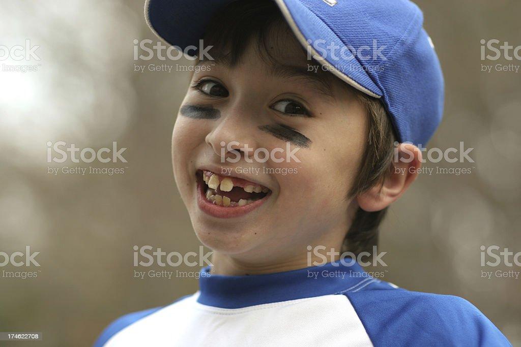 Happy baseball boy royalty-free stock photo