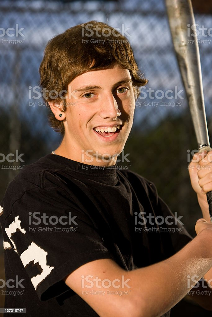 Happy Baseball Player royalty-free stock photo