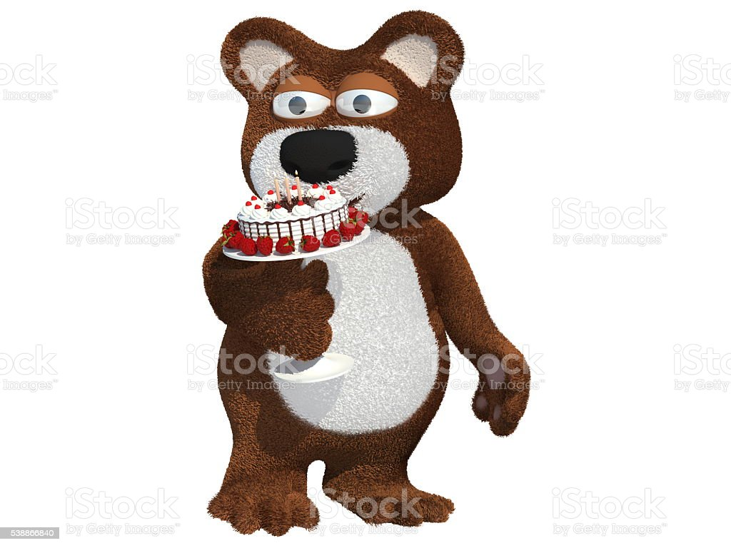 Happy bear2 stock photo