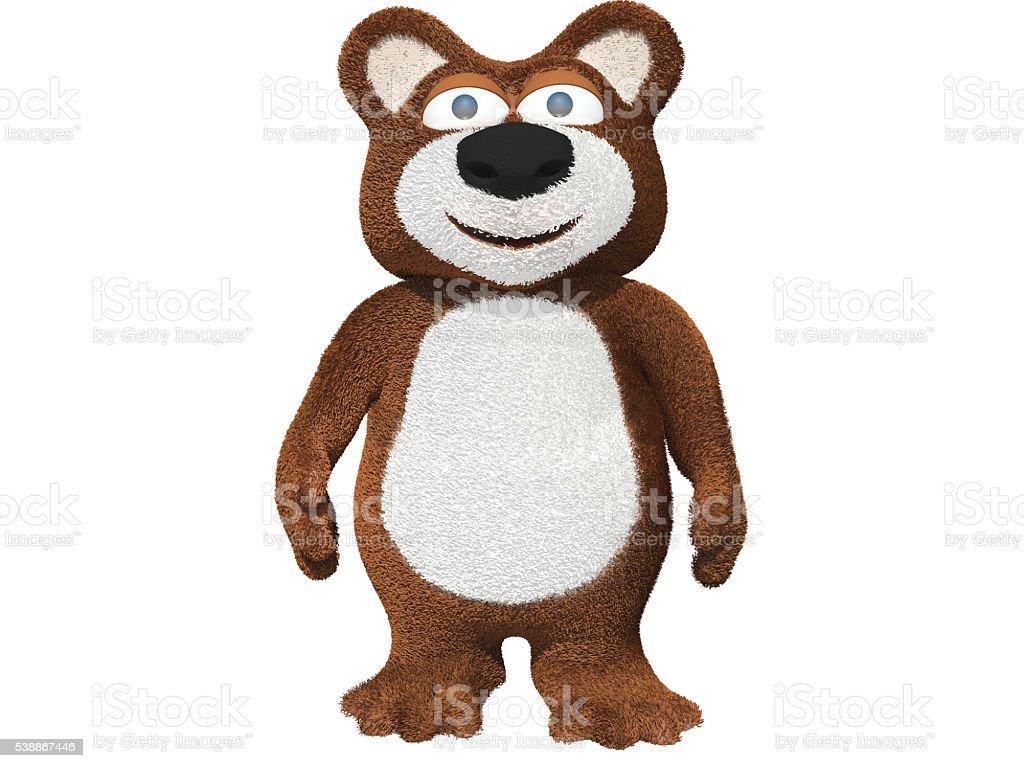 Happy bear2 stock photo