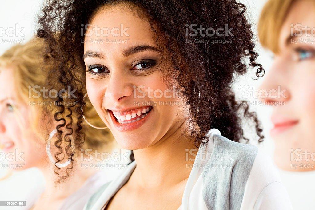 Happy Beautiful Brunette stock photo