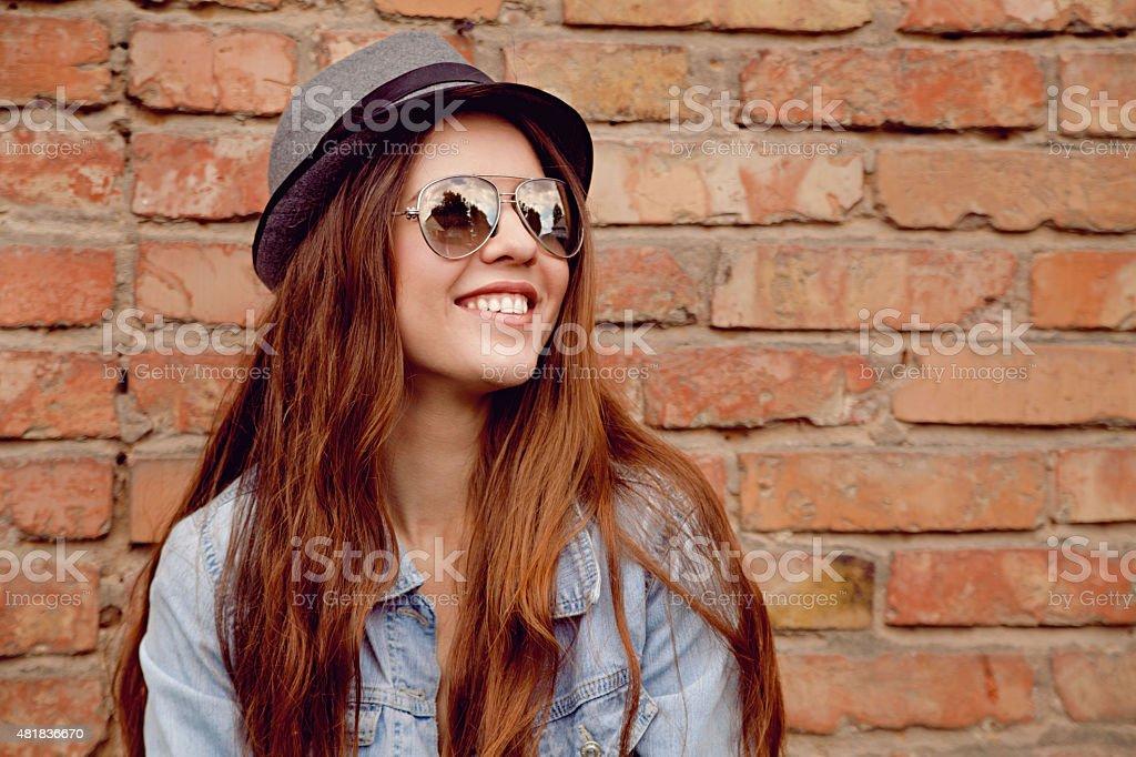 Happy beautiful woman royalty-free stock photo