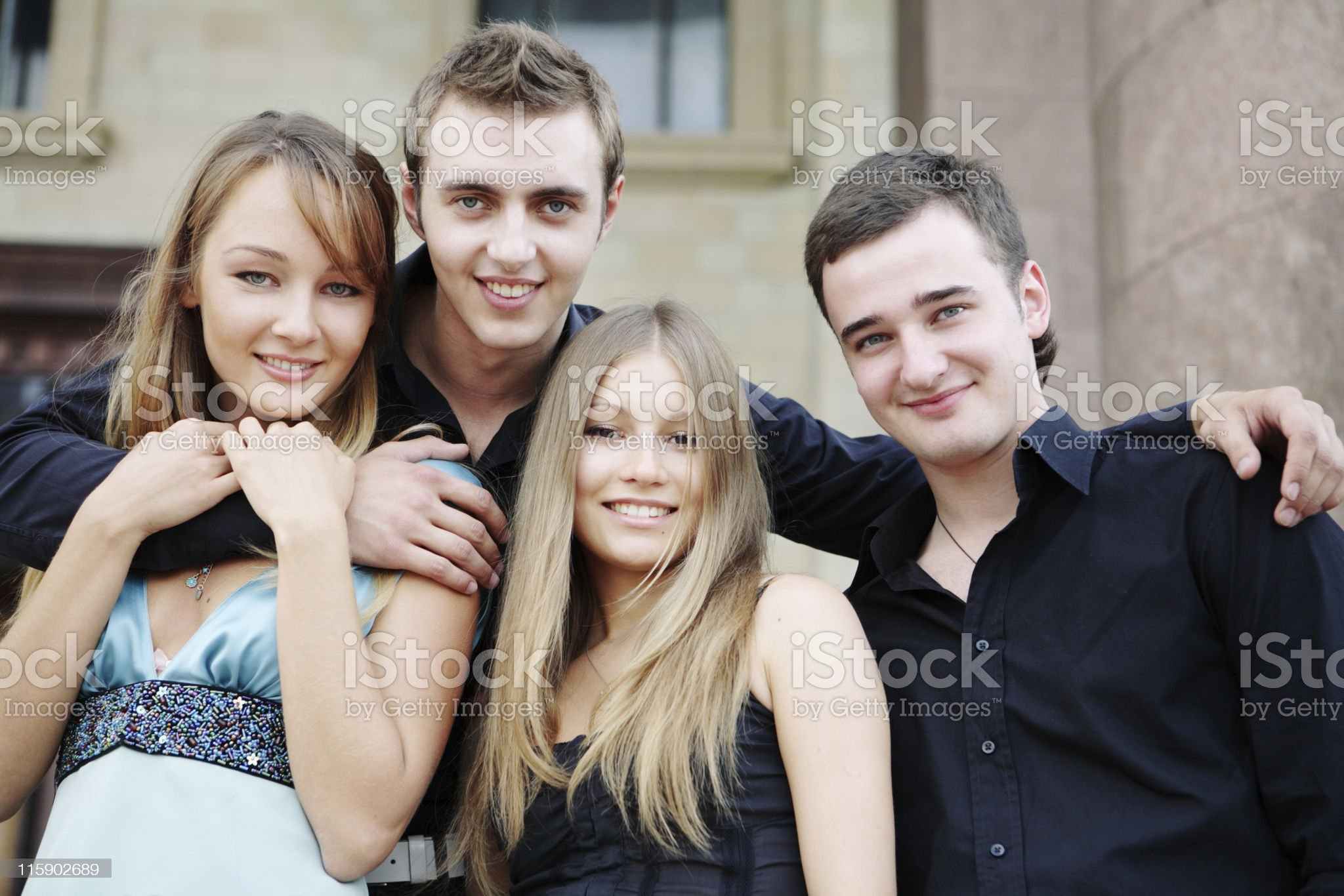 happy beautiful young people royalty-free stock photo