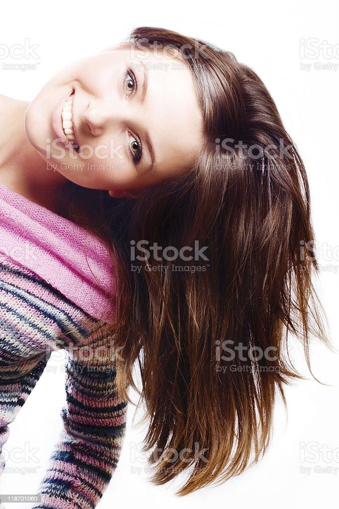 Hermosa mujer joven feliz foto de stock libre de derechos