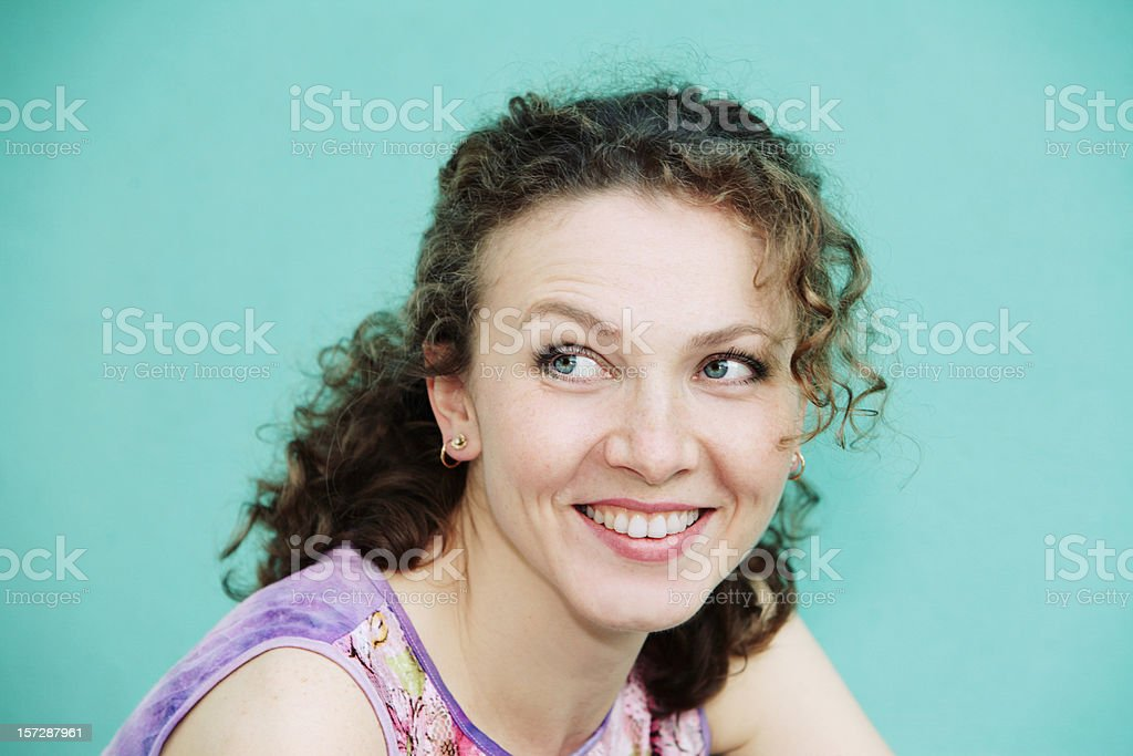 Happy Beautiful Young woman royalty-free stock photo