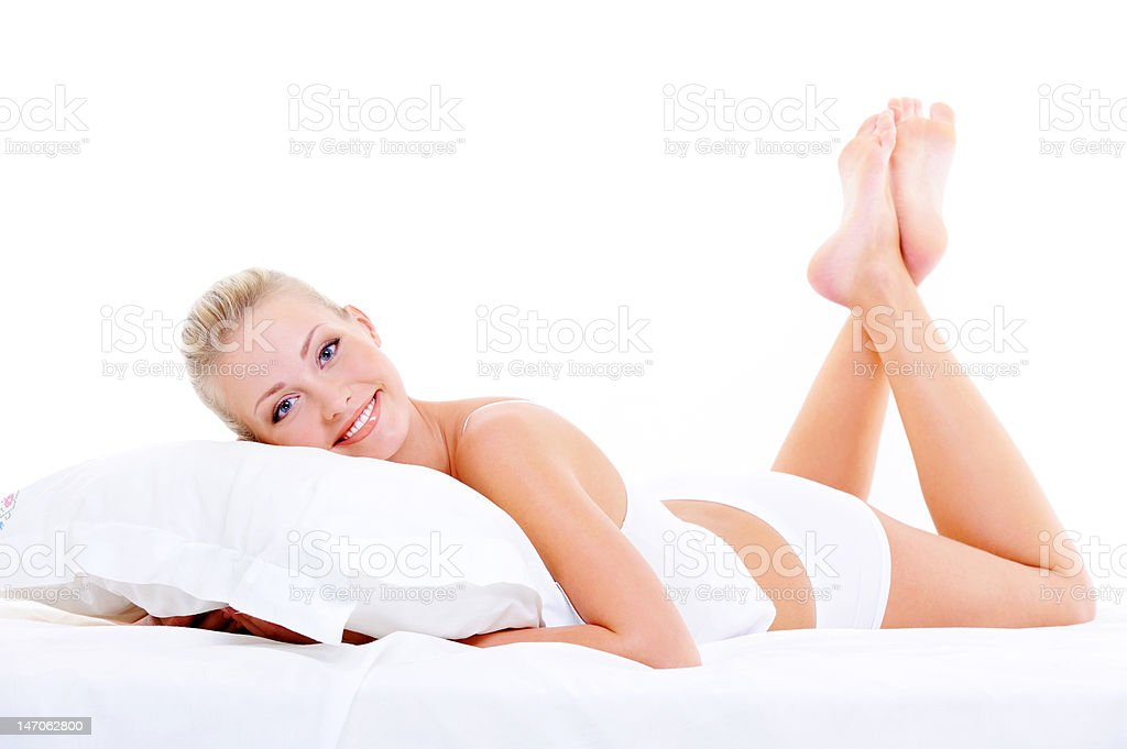 Happy beauty woman with perfect body royalty-free stock photo
