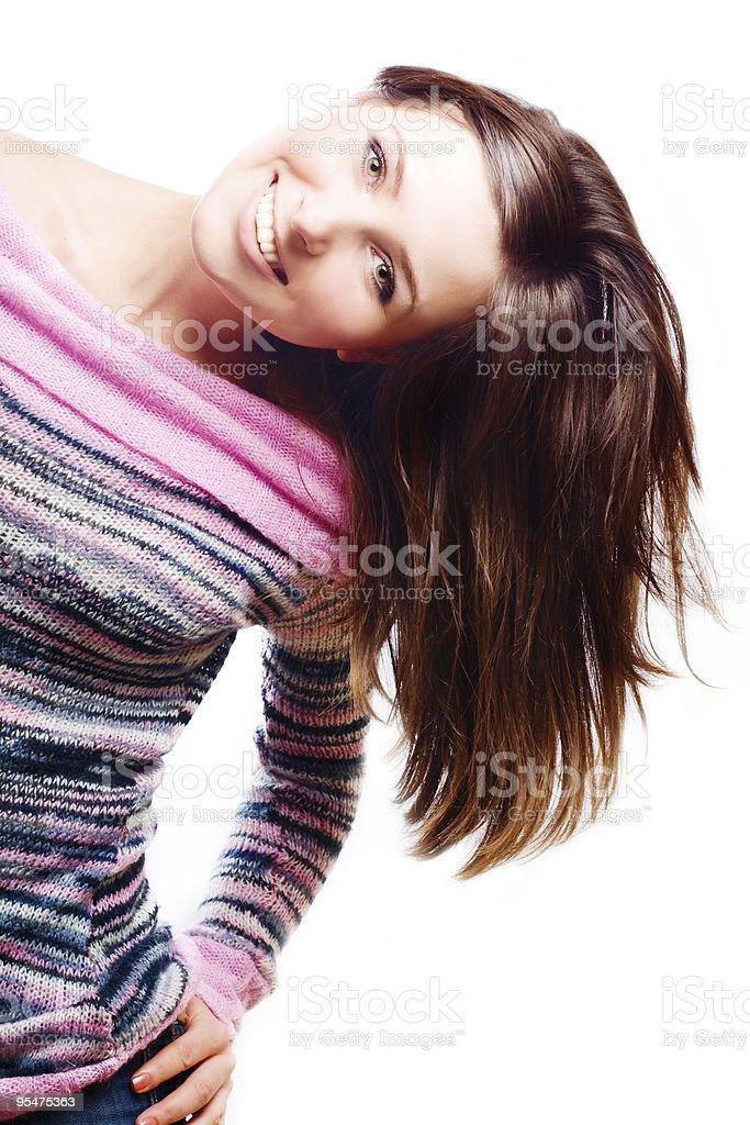 Feliz mujer joven belleza foto de stock libre de derechos