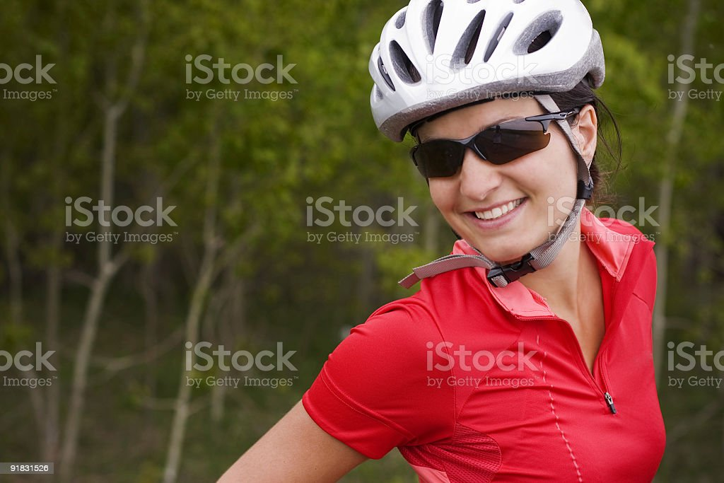 Happy biker girl royalty-free stock photo