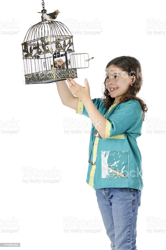 Happy Bird Vet royalty-free stock photo