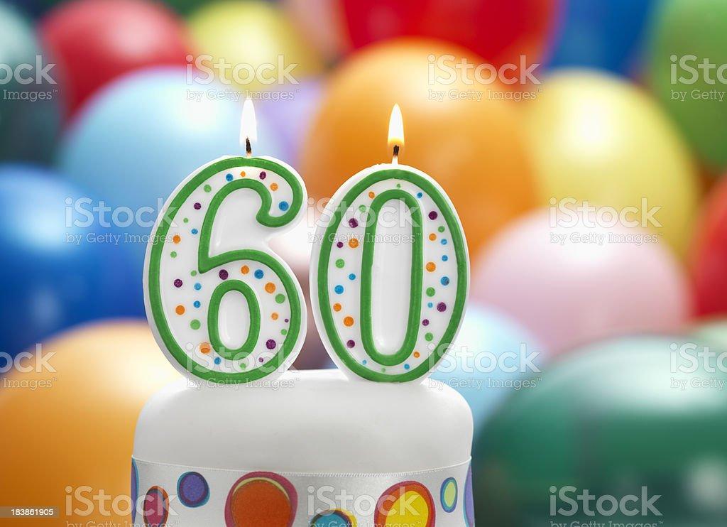 happy birthday 60th stock photo