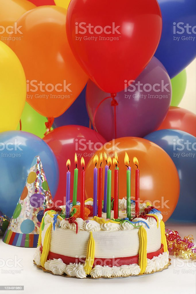 Happy birthday cake royalty-free stock photo