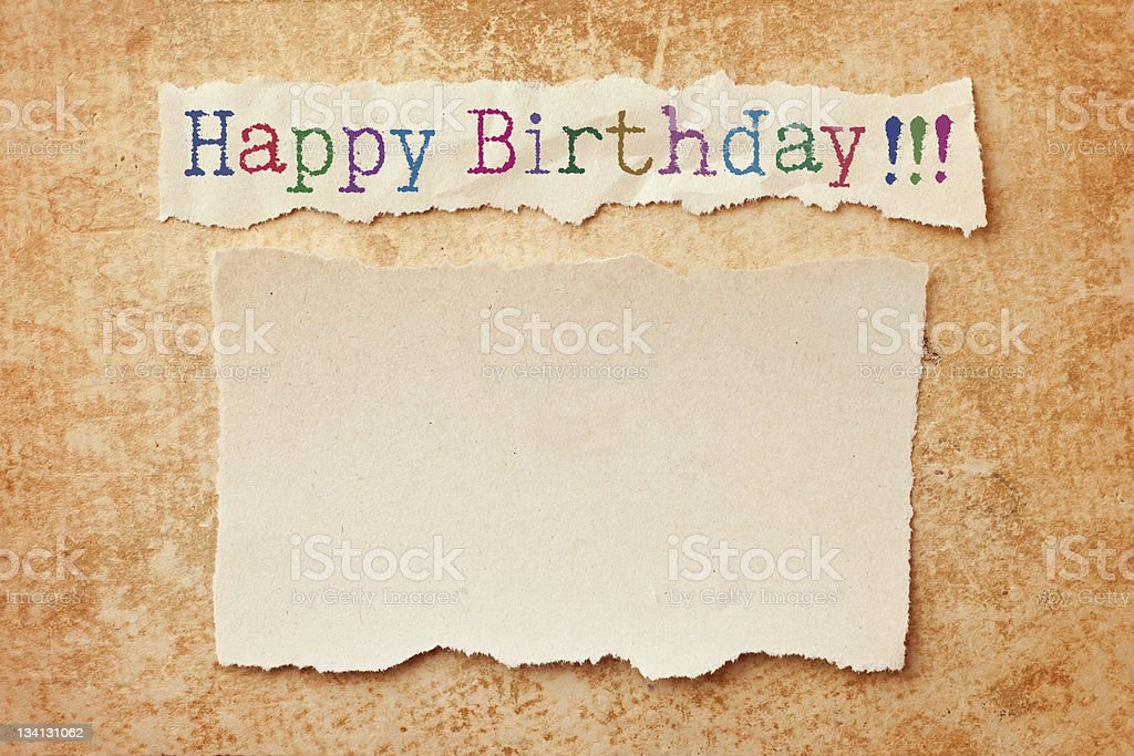 Happy birthday card stock photo