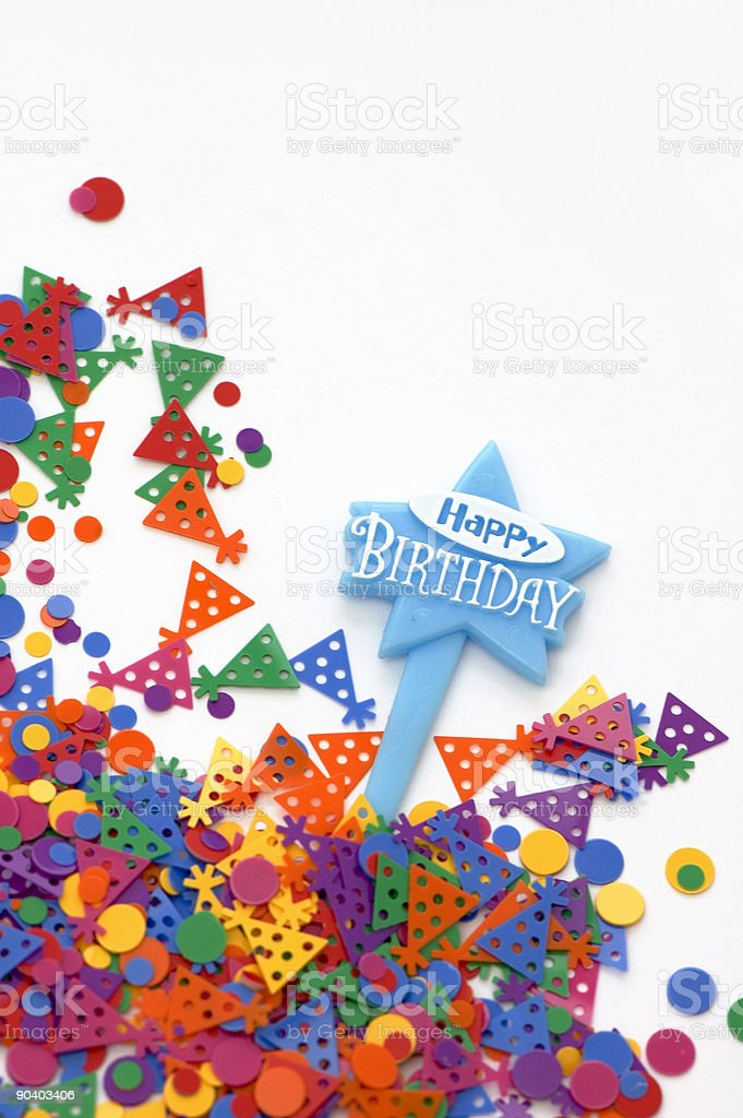 Happy Birthday Card royalty-free stock photo