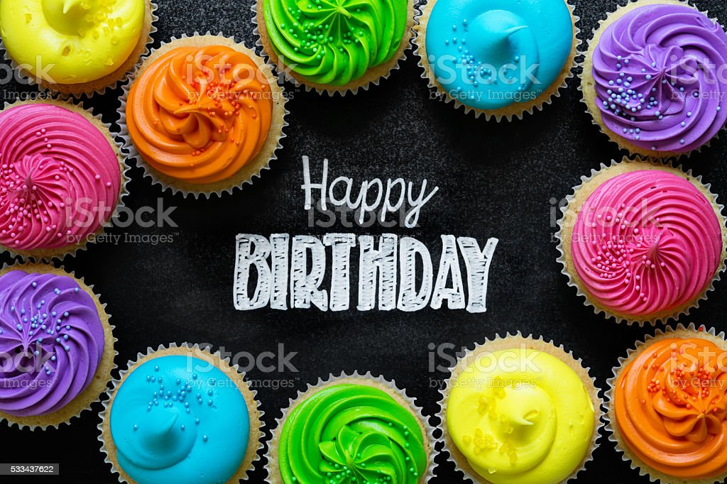 Happy Birthday chalkboard stock photo